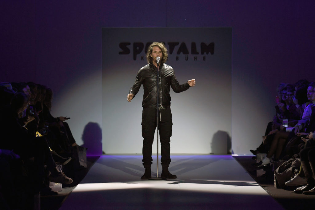 BERLIN, GERMANY - JANUARY 17: Singer Roland Reinmueller performs at the Sportalm show during the MBFW Berlin January 2018 at ewerk on January 17, 2018 in Berlin, Germany. (Photo by John Phillips/Getty Images for Sportalm) *** Local Caption *** Roland Reinmueller
